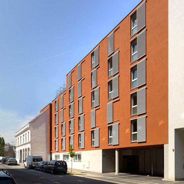 Sozial betreutes Wohnhaus Max Winter, Samariterbund, Pillergasse Wien