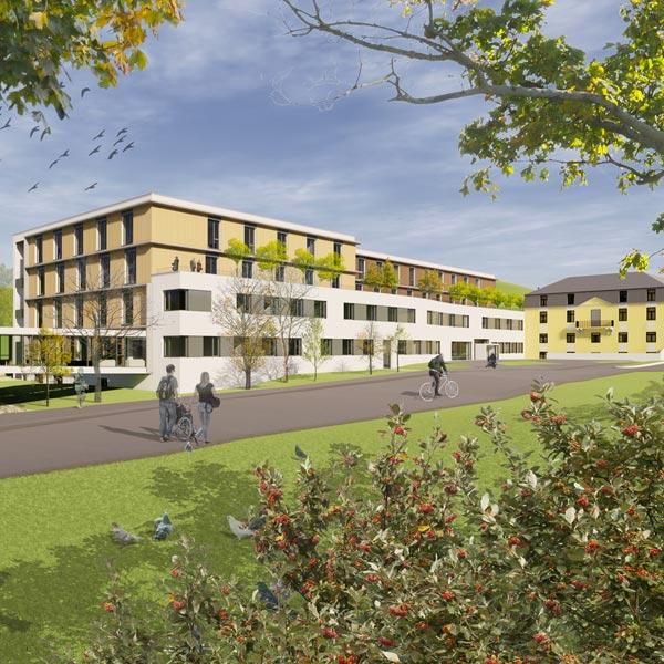Pflegezentrum Caritas Socialis Kalksburg - Mackgasse, Visualisierung des Neubaus