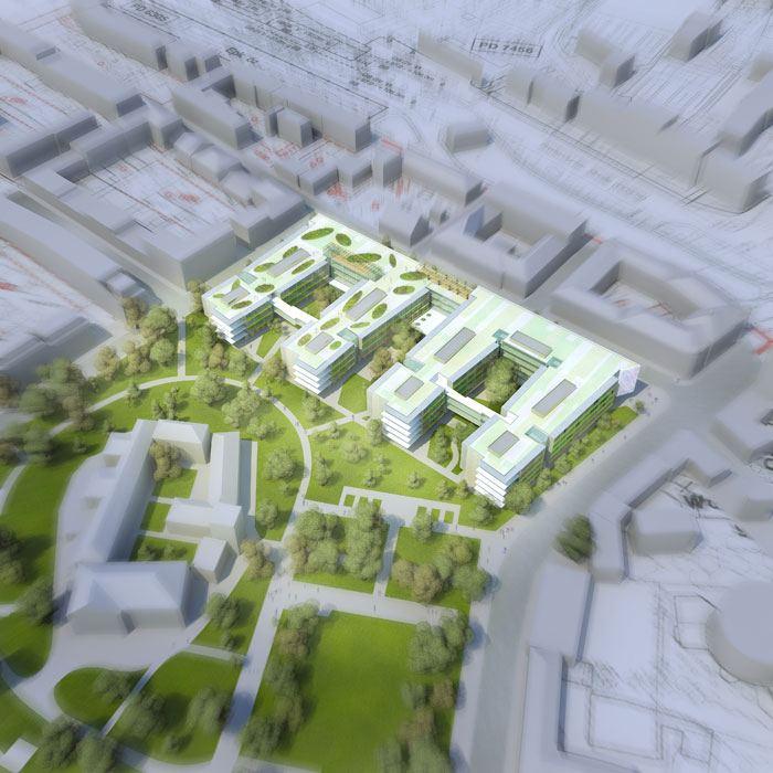 Geriatriezentrum Liesing Wettbewerbsbeitrag ArchOffice Zweiquadrat ZT GmbH