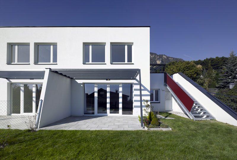 Höflein an der Hohen Wand - Doppelhäuser Waldrandgasse, Wohnbereich mit vorgelagertem Eigengarten