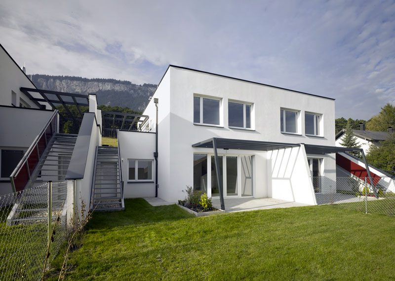 Höflein an der Hohen Wand - Doppelhäuser Waldrandgasse mit vorgelagertem Eigengarten und Terrasse mit Ausrichtung nach der Sonne