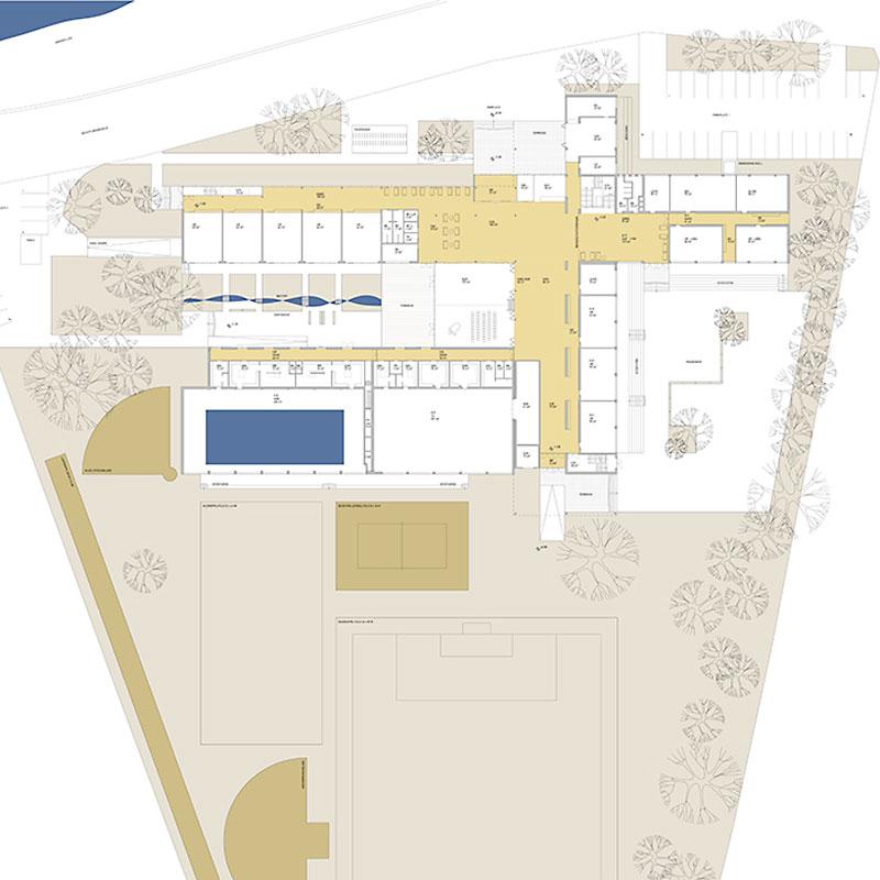 Planansicht Erweiterung und Sanierung BRG Kremszeile - © ArchOffice Zweiquadrat ZT GmbH Wien