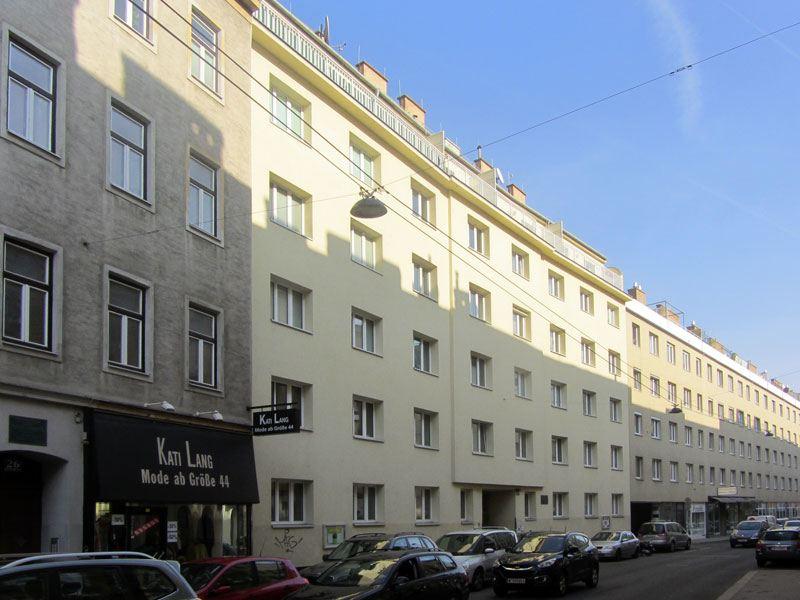 Kindergarten Lindenhof der Nikolausstiftung, Pfarrzentrum der Pfarre St. Gertrud in 1180 Wien - Eingang Gentzgasse