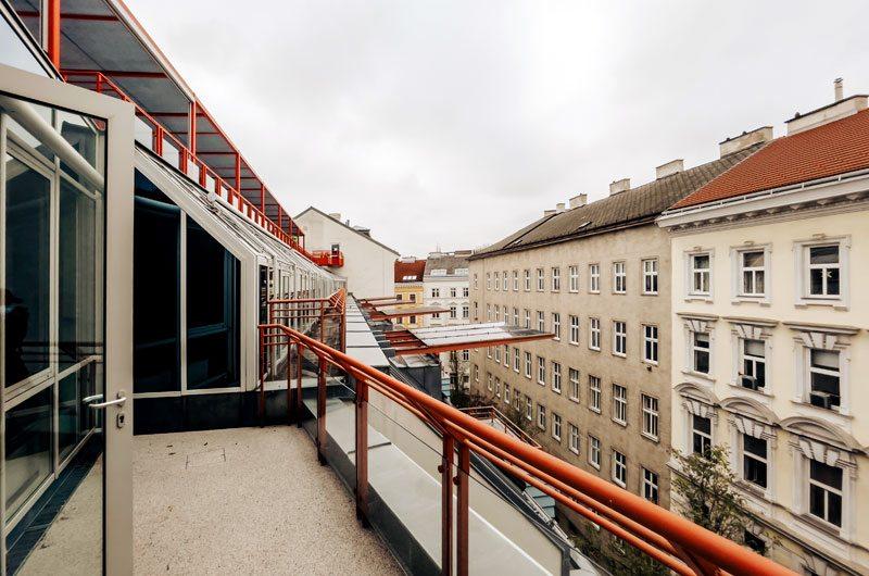 Architekturdetail Dachterrasse CS Pramergasse