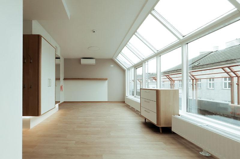 Dachgeschossausbau CS Pramergasse Innenansicht Galerie