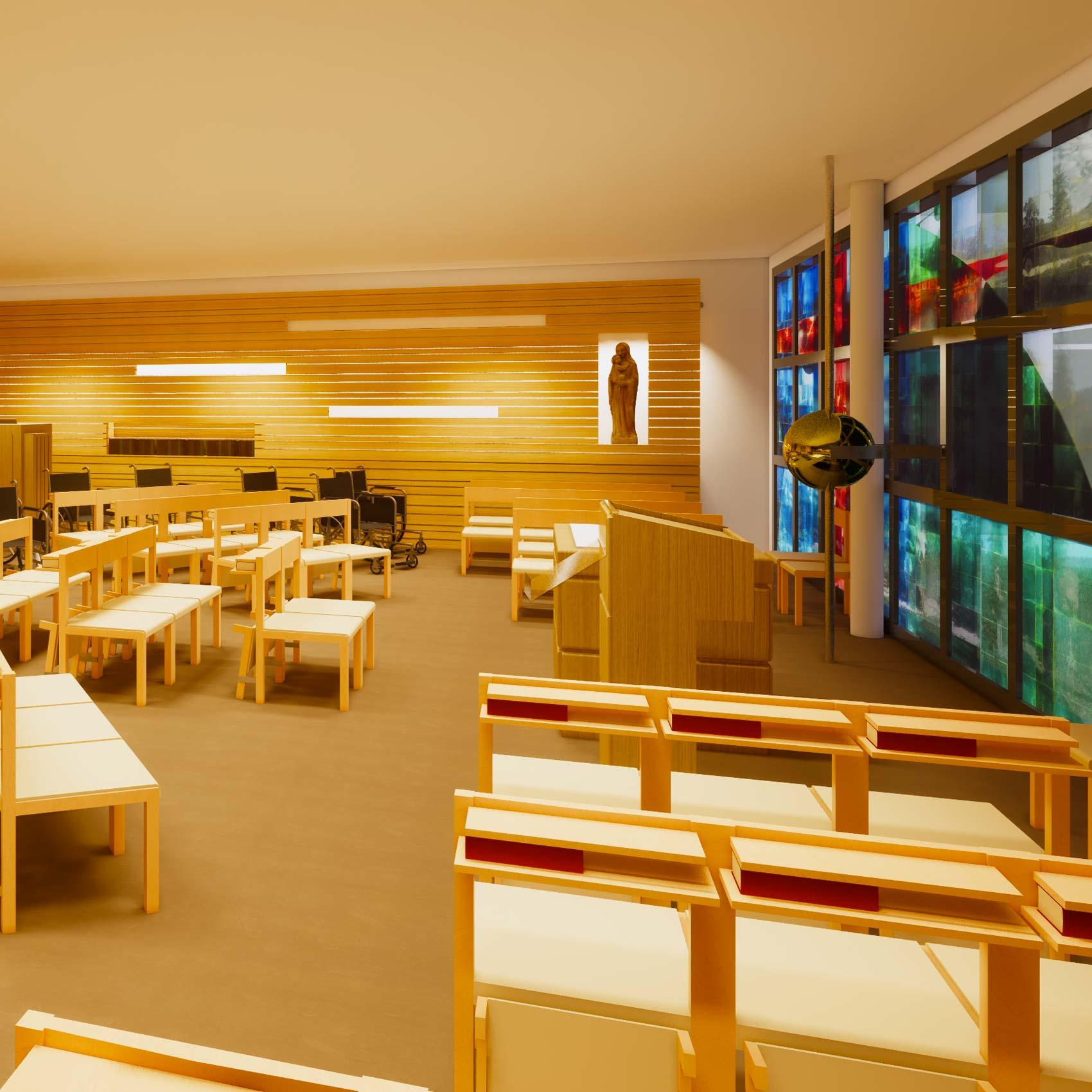 Kapelle CS Mackgasse Entwurf für den Neubau 2020-2023