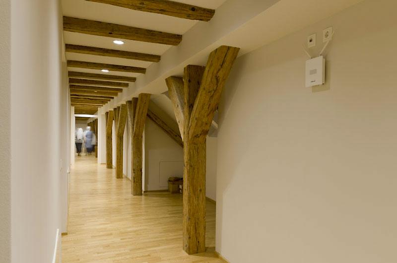 Dachstuhlkonstruktion als Gestaltungselement